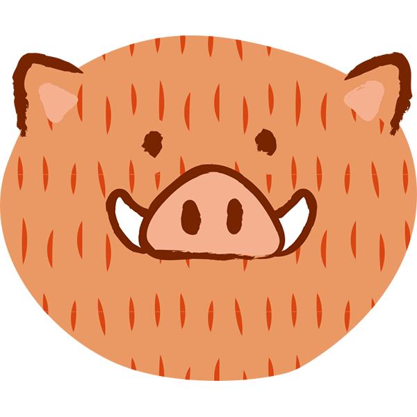 ゆるイノシシ 顔