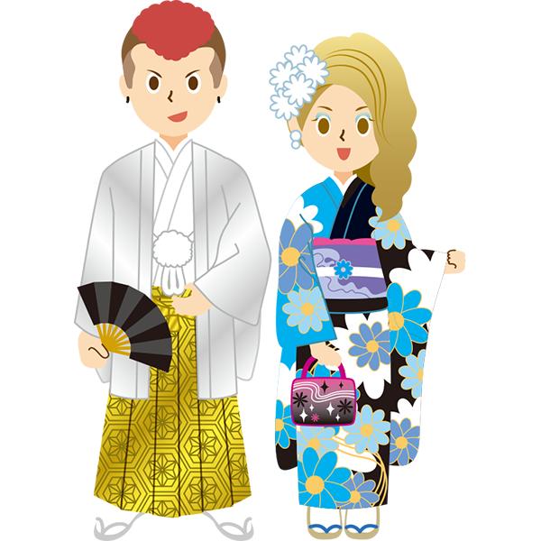 袴&振袖 やんちゃな男女 成人式