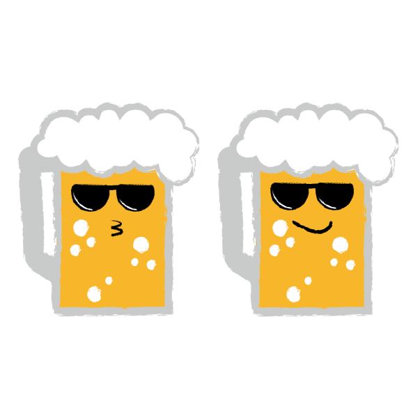 ビール サングラス 2セット
