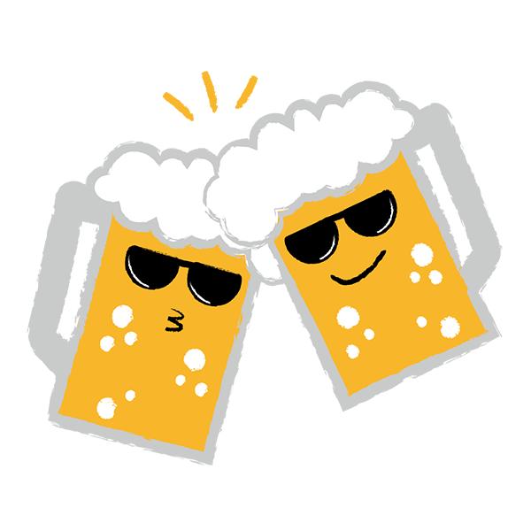 ビール 乾杯 サングラス