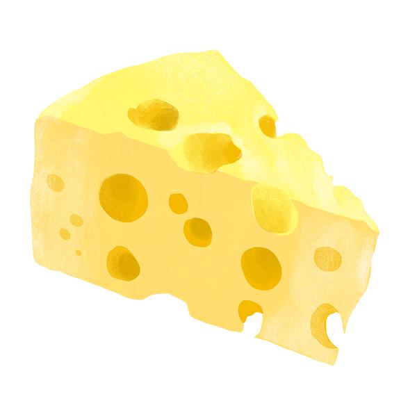 チーズ (手描き)