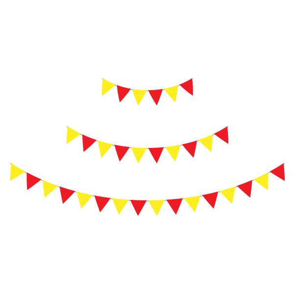 ガーランド(赤・黄色)