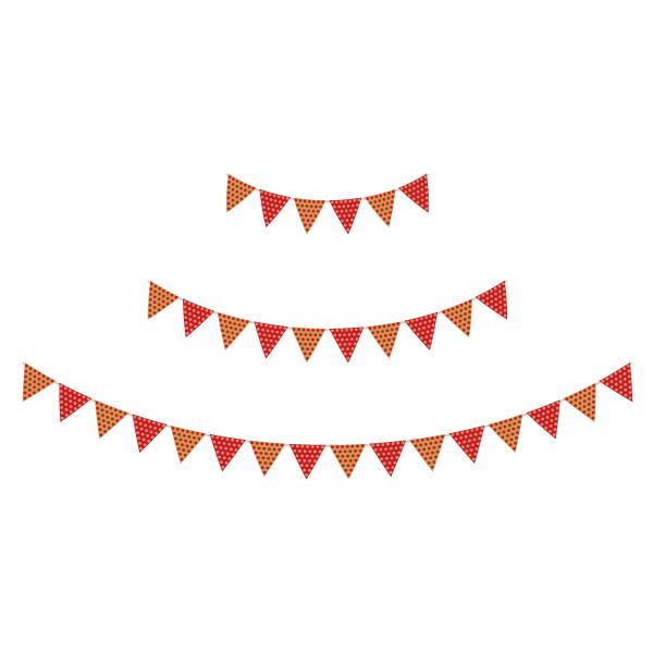 ガーランド ドット柄(赤色・金色)