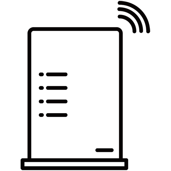 無線ルーター(モノクロ)
