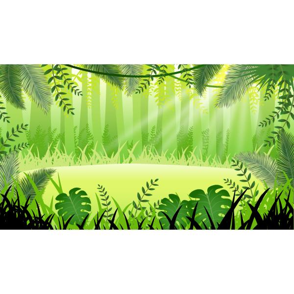 バーチャル背景画像 ジャングル