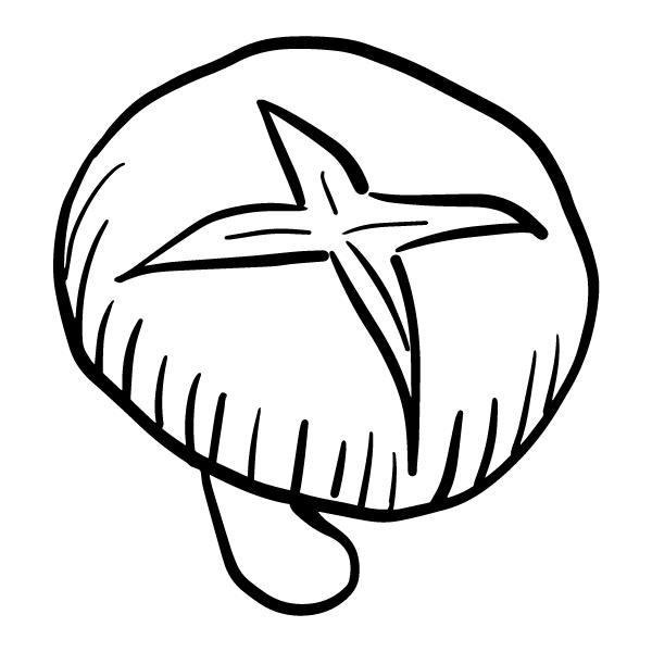 しいたけ 飾り切り(モノクロ)
