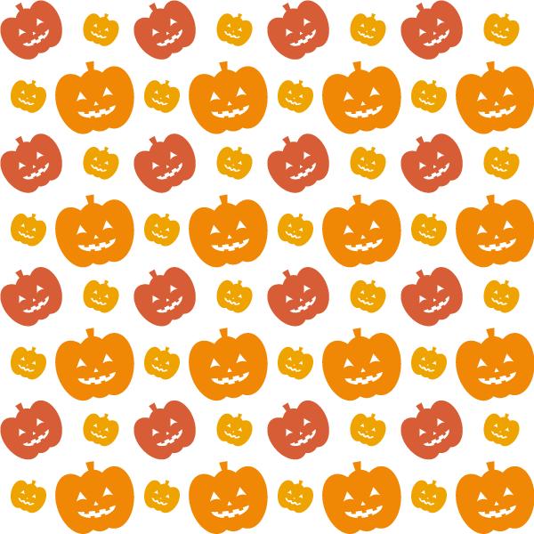 背景画像 ハロウィン かぼちゃ(白地)