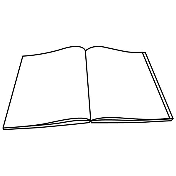 本 冊子 線画