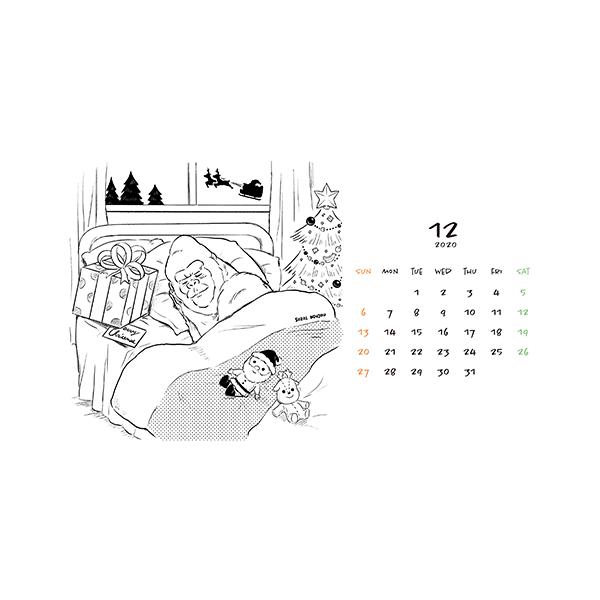 12月ゴリラカレンダー(2020年版)