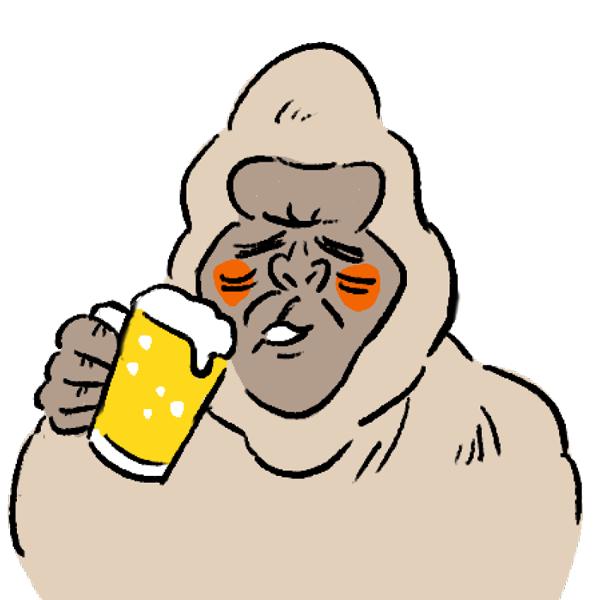 ゴリラ アイコン ビール