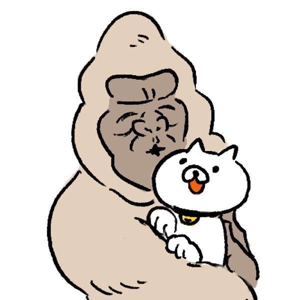 ゴリラ アイコン 猫好き