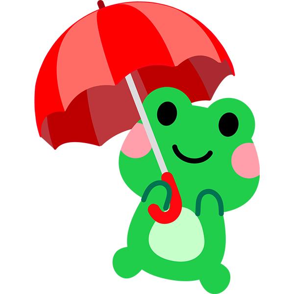 カエル 傘 かわいい