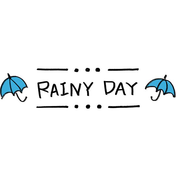 文字素材 RAINY DAY