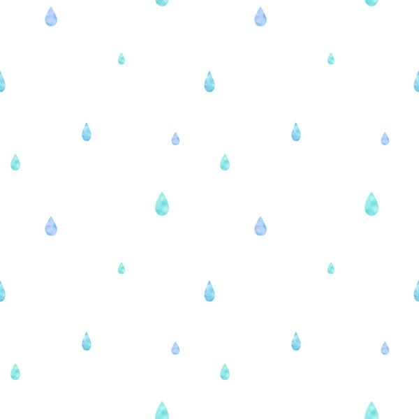 しずく 水彩 パターン柄