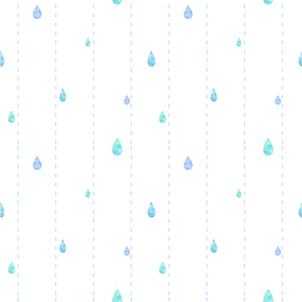しずくと点線 水彩 パターン柄