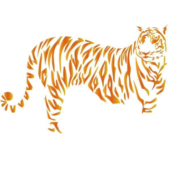 トラ 縞模様がグラデーション
