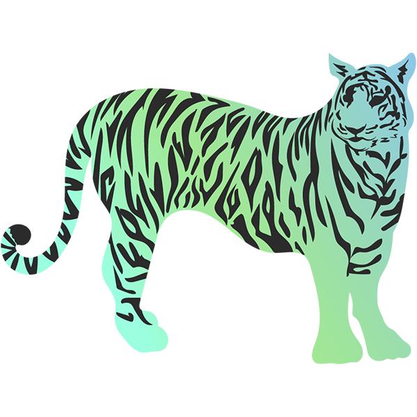 トラ(虎・寅) グラデーションカラー #1