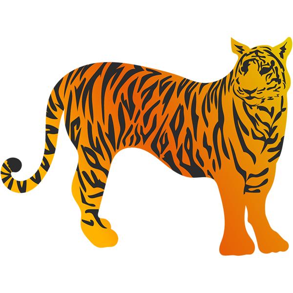 トラ(虎・寅) グラデーションカラー #3